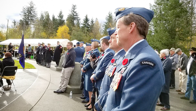 WADS Canadian Detachment honor veterans at Tahoma National Cemetery
