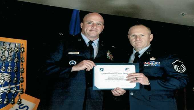 WADS Security Forces member received rare Louis H. Fischer Award