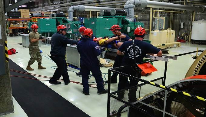 Confined space exercise in WADS power plant