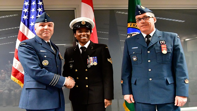 WADS Canadian Detachment members awarded CAF Special Service Medals