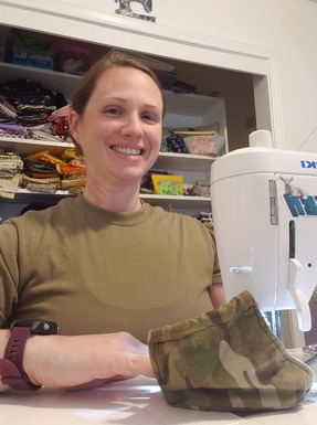 WADS Airman sews 150 masks for hospital workers to fight COVID-19